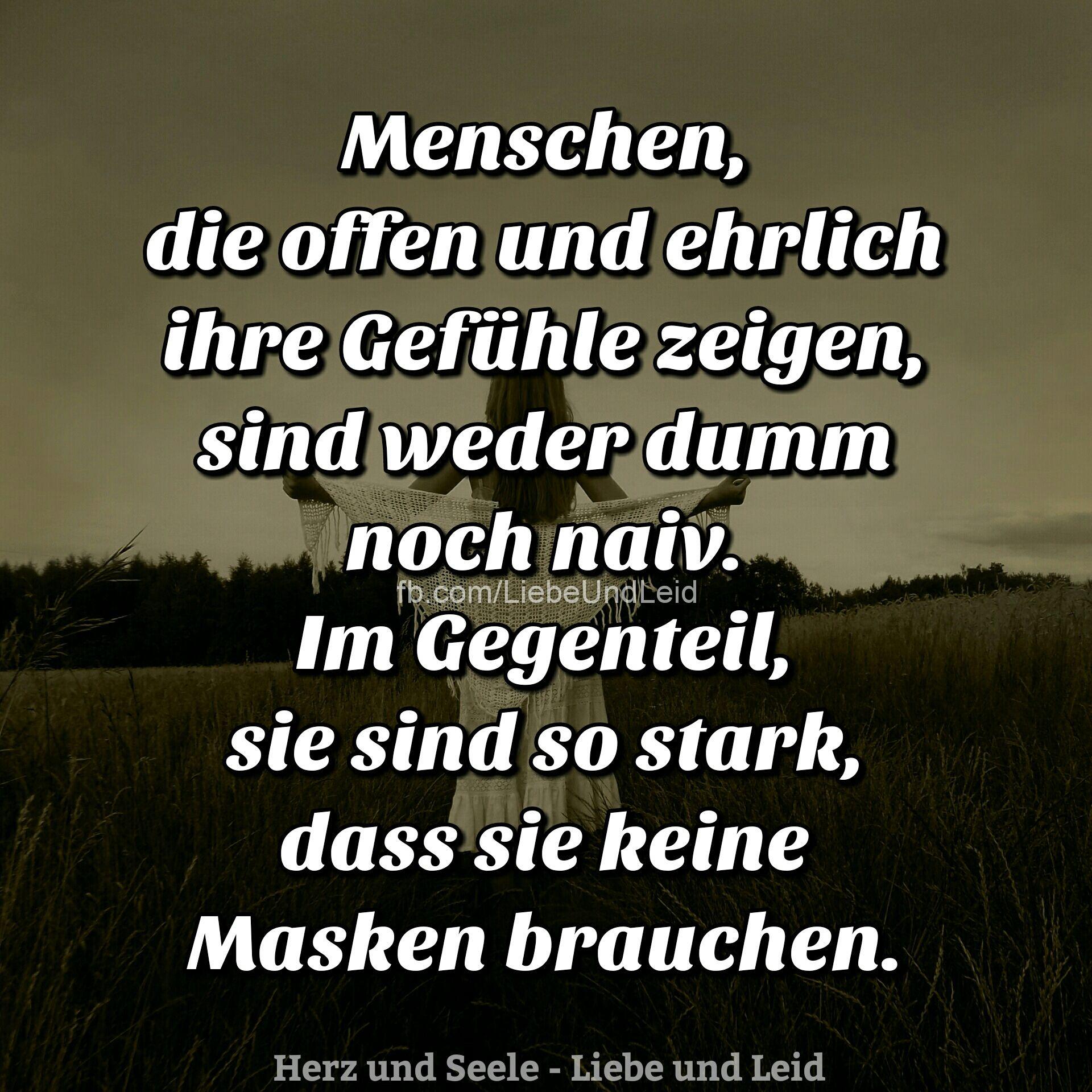 Menschen, die offen und ehrlich… | Deutsch | Nachdenkliche ...