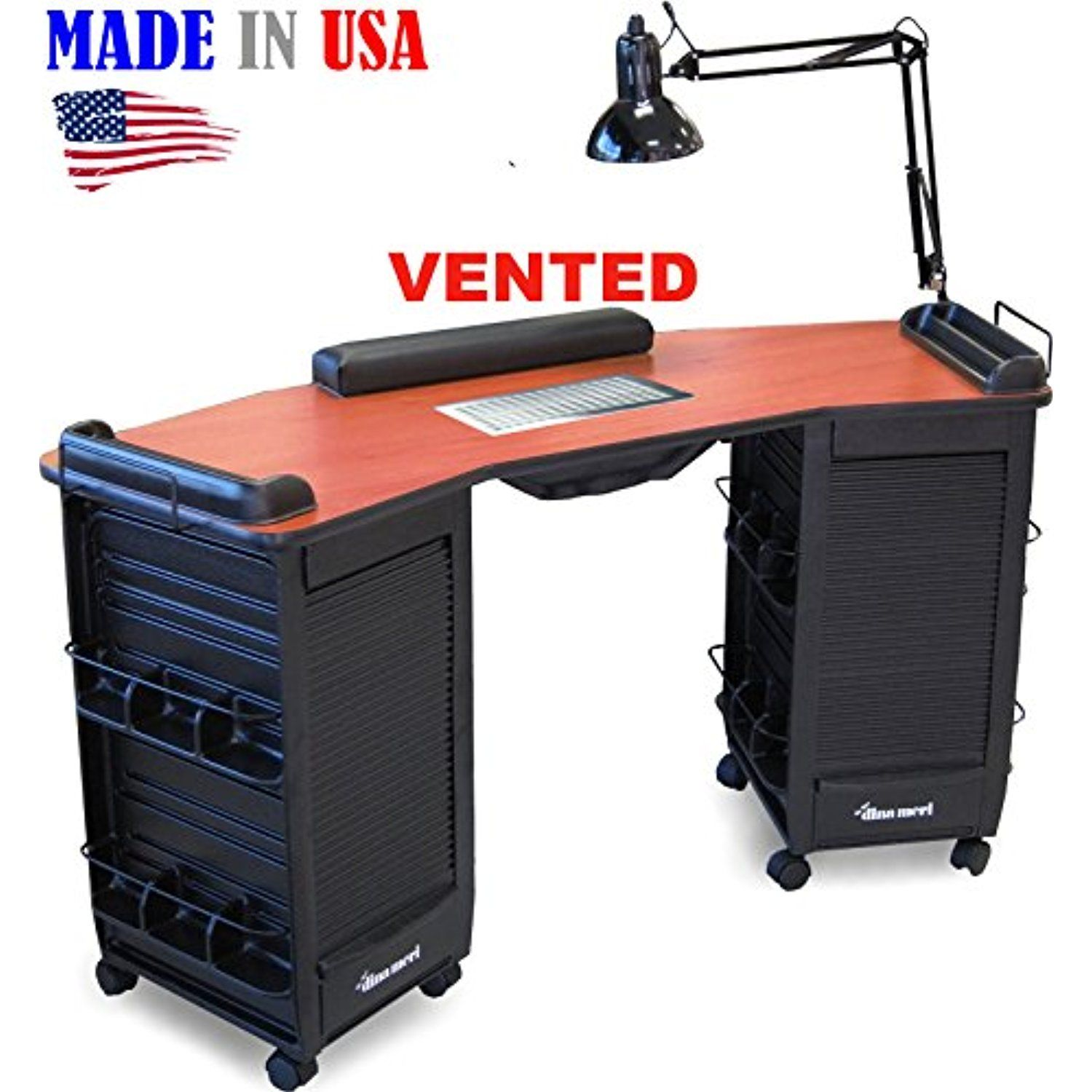 393V Manicure Nail Table Vented Double Lockable