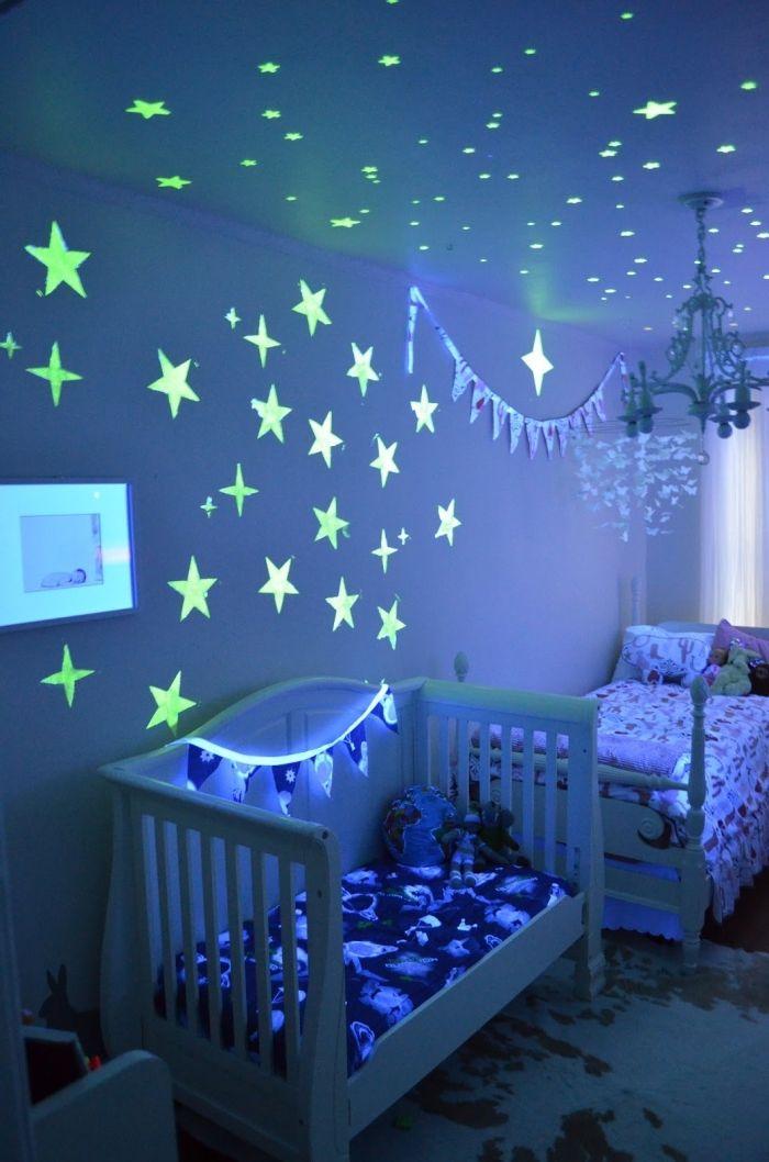 1001 astuces et conseils pour cr er la chambre reine des neiges parfaite chambre d 39 enfant - Plafond chambre etoile ...
