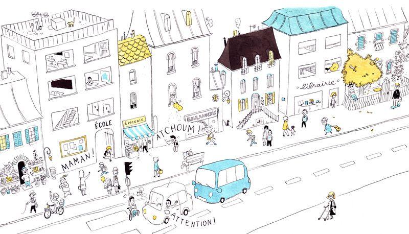 Le blog d\u0027Anne Montel Illustration Places Pinterest Les