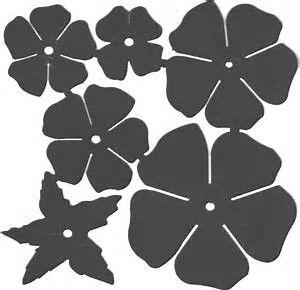 image result for metal rose template paper flowers pinterest