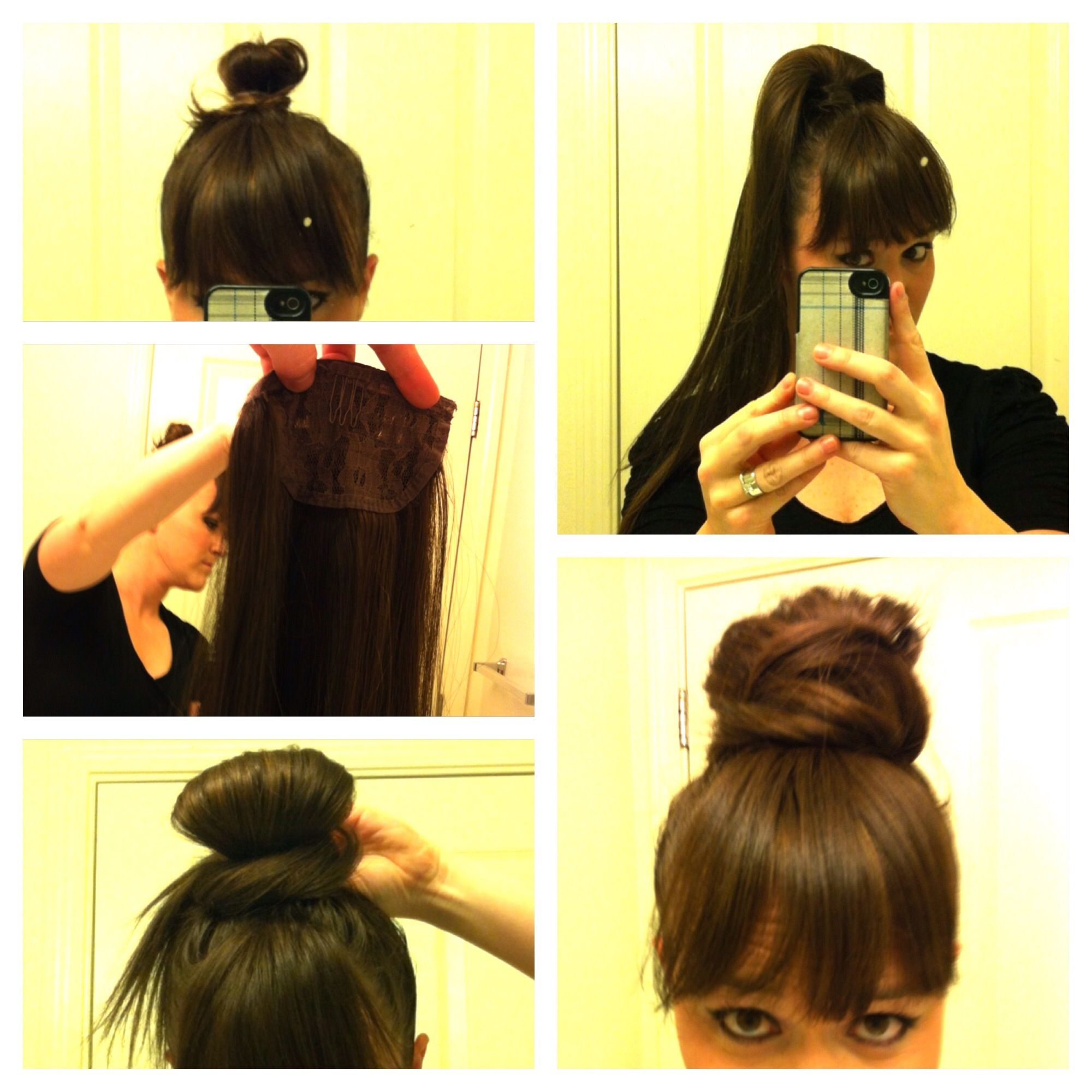 My Ponytail Hair Extension To Bun How To Secure You Own Hair In