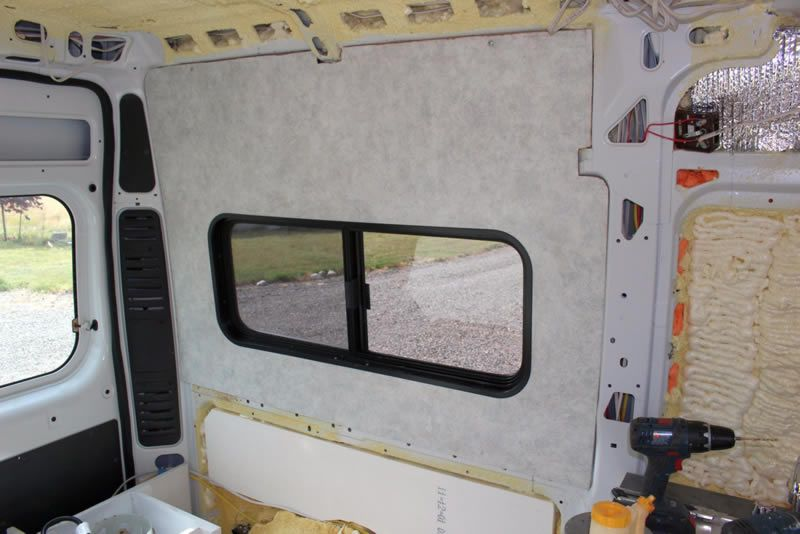 Our ProMaster Camper Van Conversion   Paneling Walls And Ceiling   Build A  Green RV