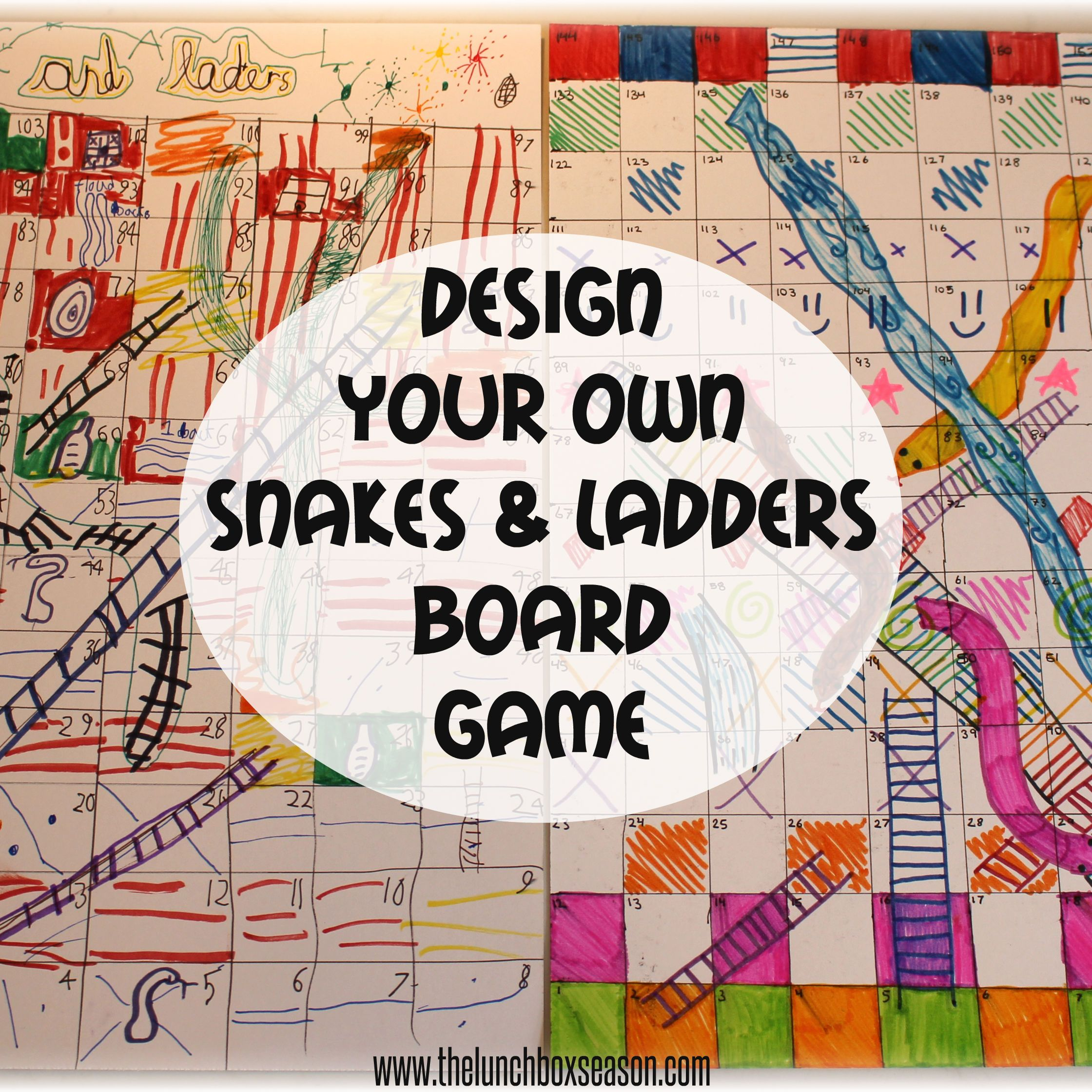 make your own snakes and ladders template.html