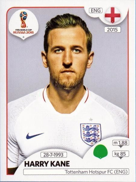 Sticker 589 Harry Kane England Panini WM 2018 World Cup Russia