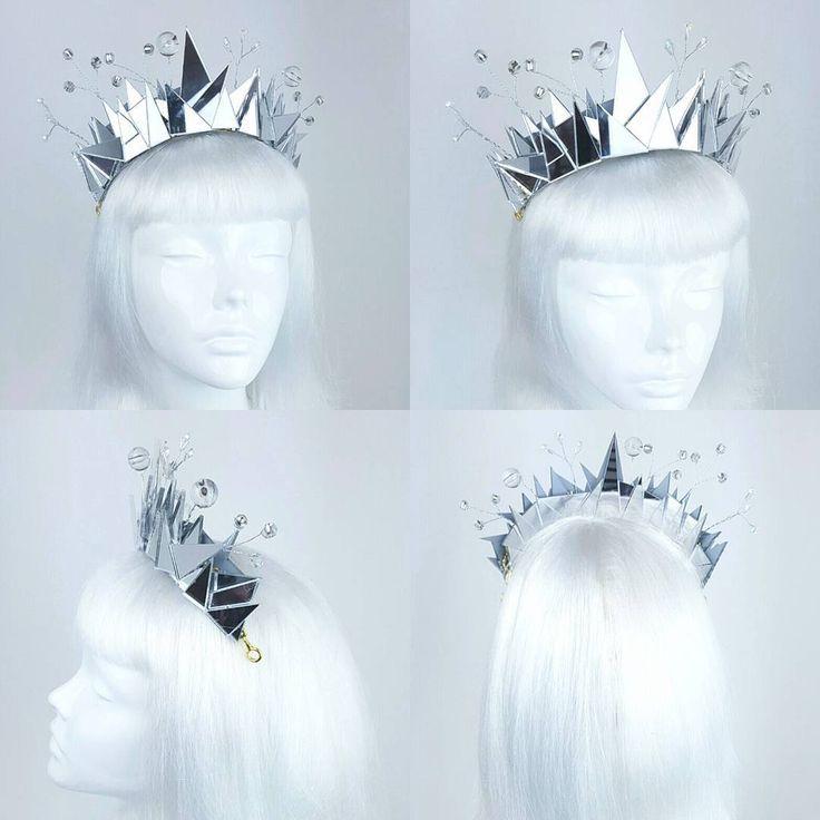 Disco ball mirror headdress