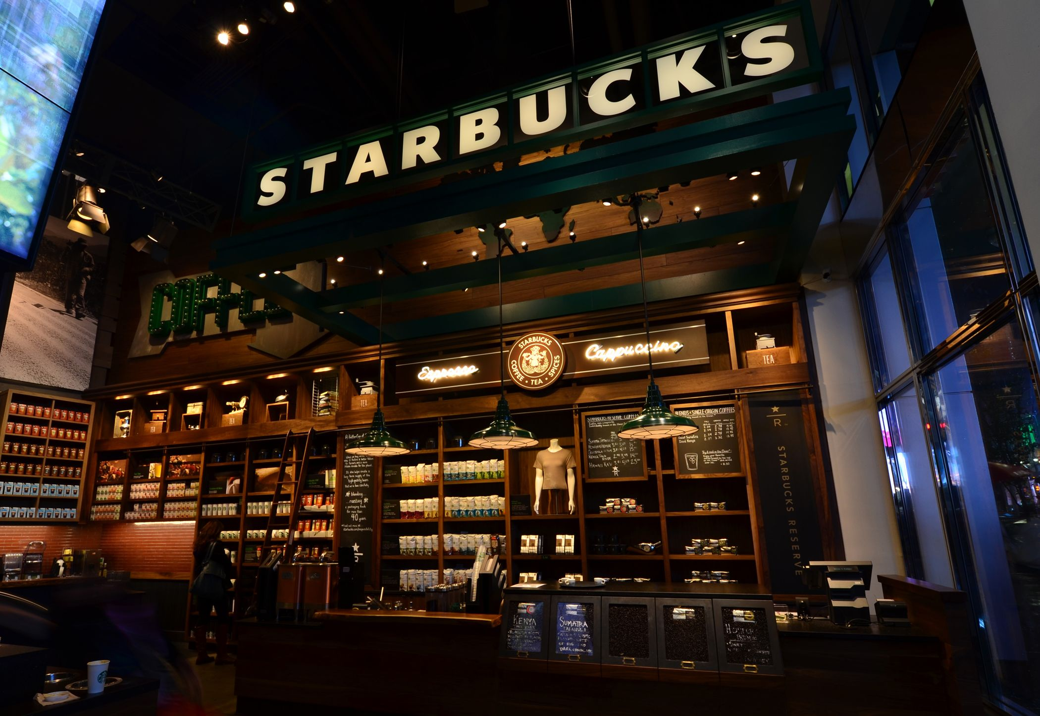 Ferreira used new led lighting in a starbucks store in new