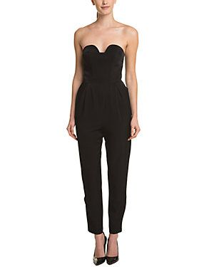 a6a360a7a81d Keepsake Hearts On Fire Black Strapless Ankle-Zip Jumpsuit