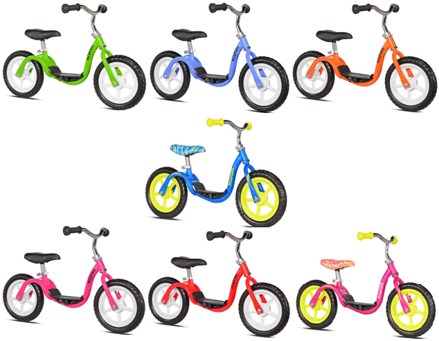 Kazam V2e No Pedal Balance Bike In Pink And Yellow From The Best
