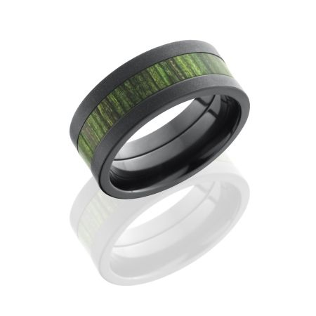 wedding bands with jade black zirconium hardwood wedding ring jade - Jade Wedding Ring
