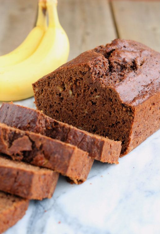 Whole Wheat Reduced-Fat Chocolate Banana Bread