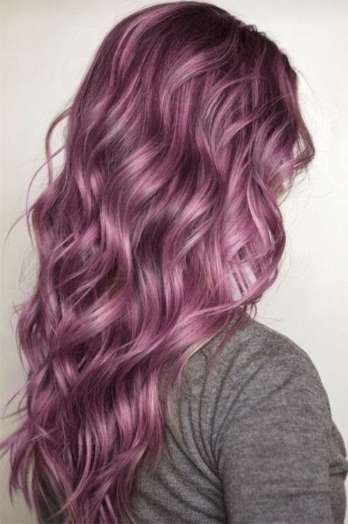 Brown Hair With Purple Highlights And Best Color Hairstyles In Gall