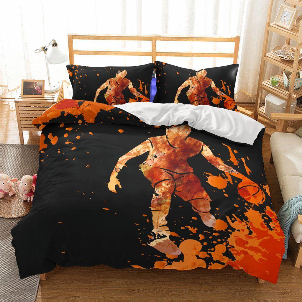 Bedding 3d Basketball Printed Cool Bedding Sets Duvet Cover Set