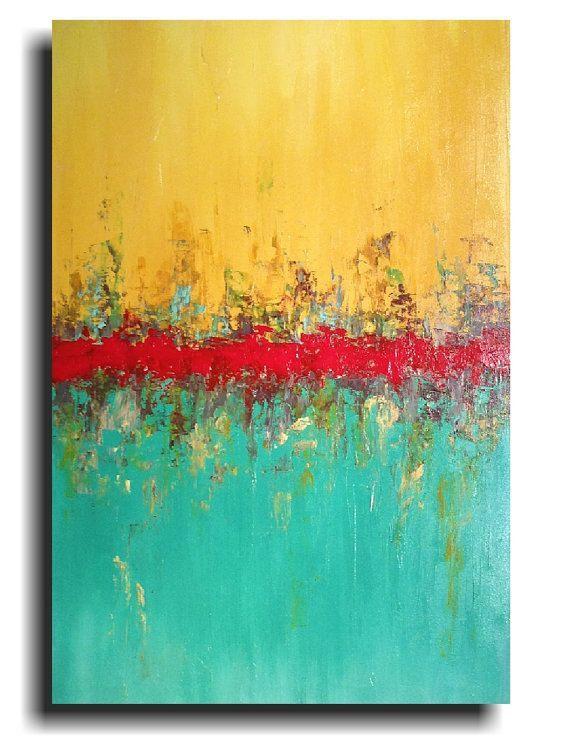 Original Large Abstract painting - 24 X 36 -by Artist JMJartstudio ...