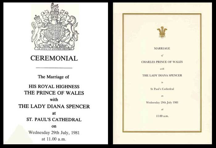 Royal Wedding Invitation Charles Diana