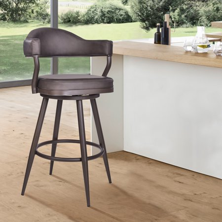 Justin 26 Inch Counter Height Barstool In Brown Powder Coated