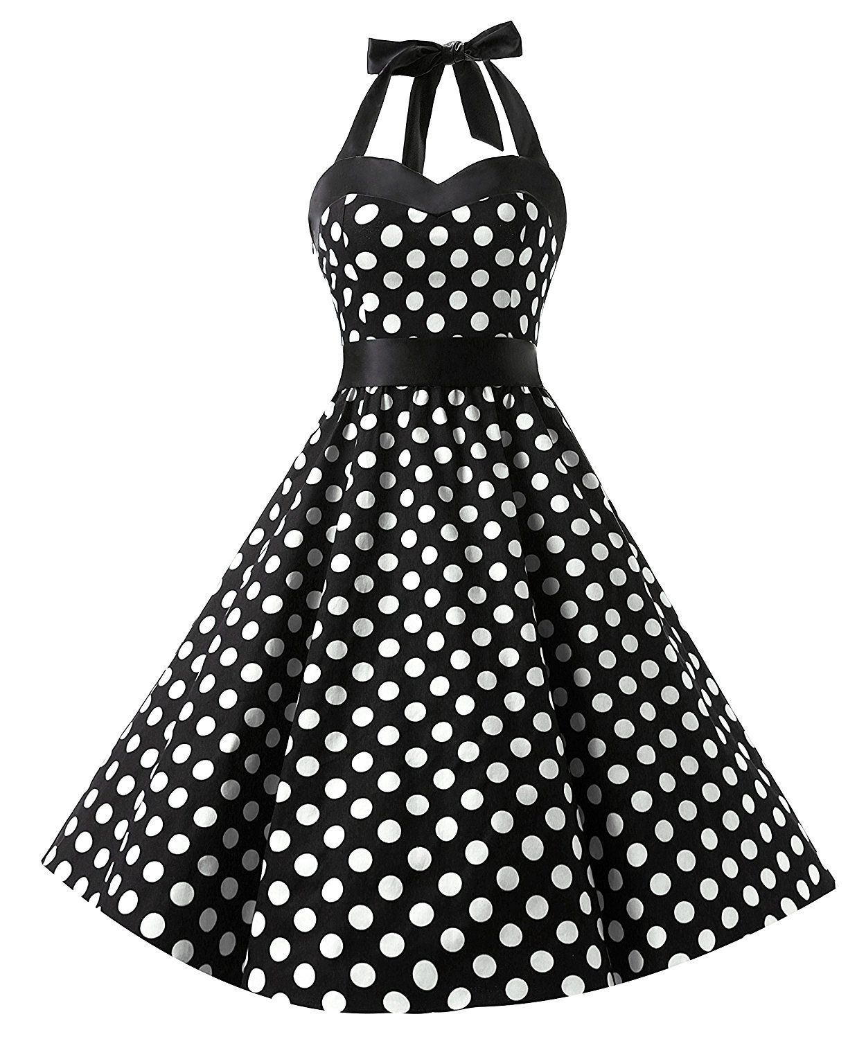 6717acb8e Dresstells Vintage 1950s Rockabilly Polka Dots Audrey Dress Retro Cocktail  Dress *** Awesome product. Click the image : Dresses