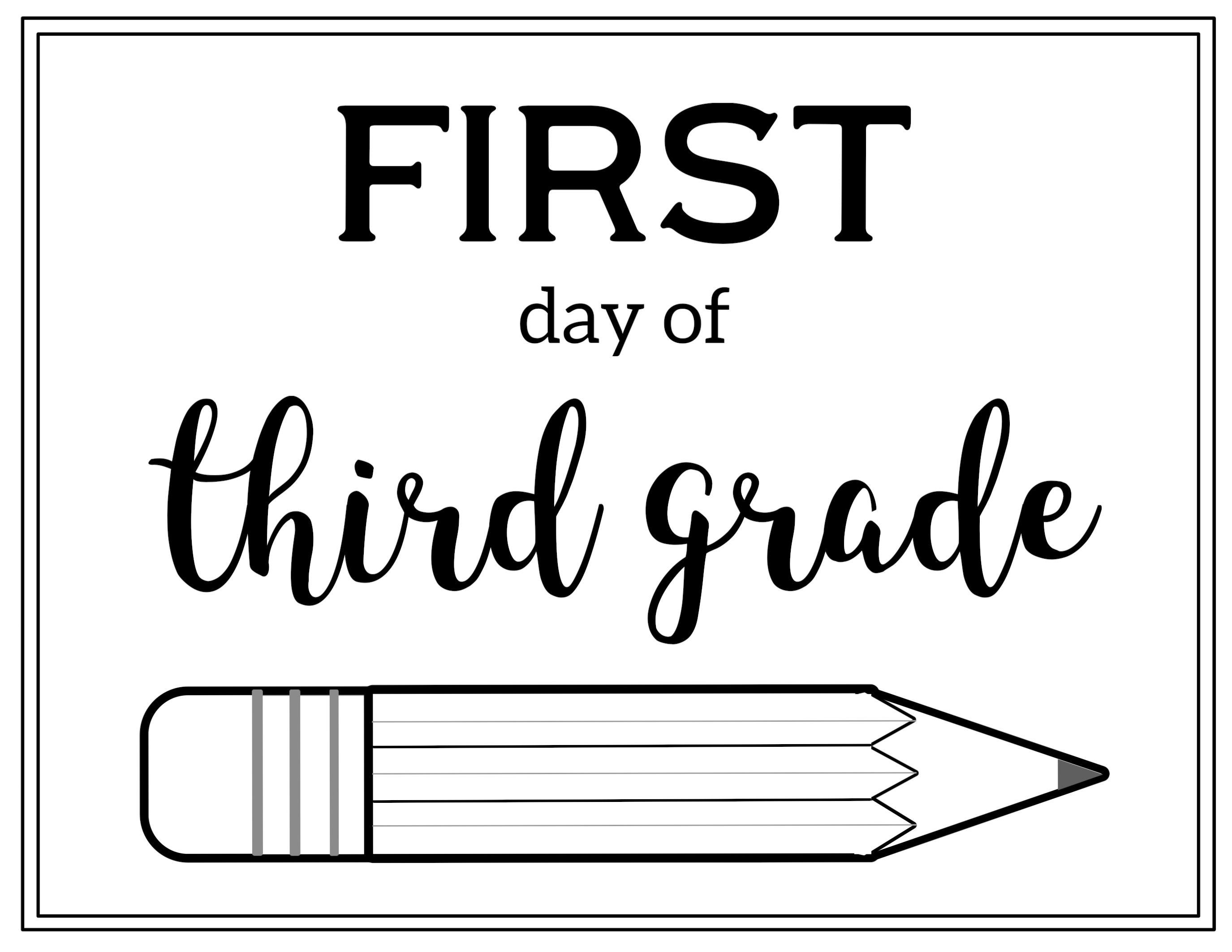 First Day Of Third Grade 2 750 2 125 Pixels