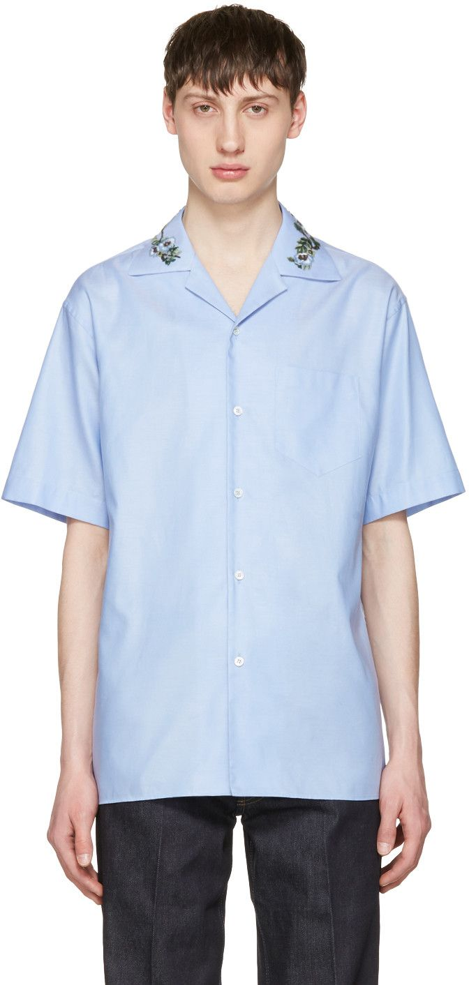 8e6246c03 GUCCI Blue Floral Bowling Shirt. #gucci #cloth #shirt | Gucci Men ...