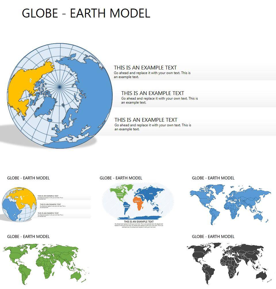 globe earth model powerpoint maps powerpoint maps pinterest