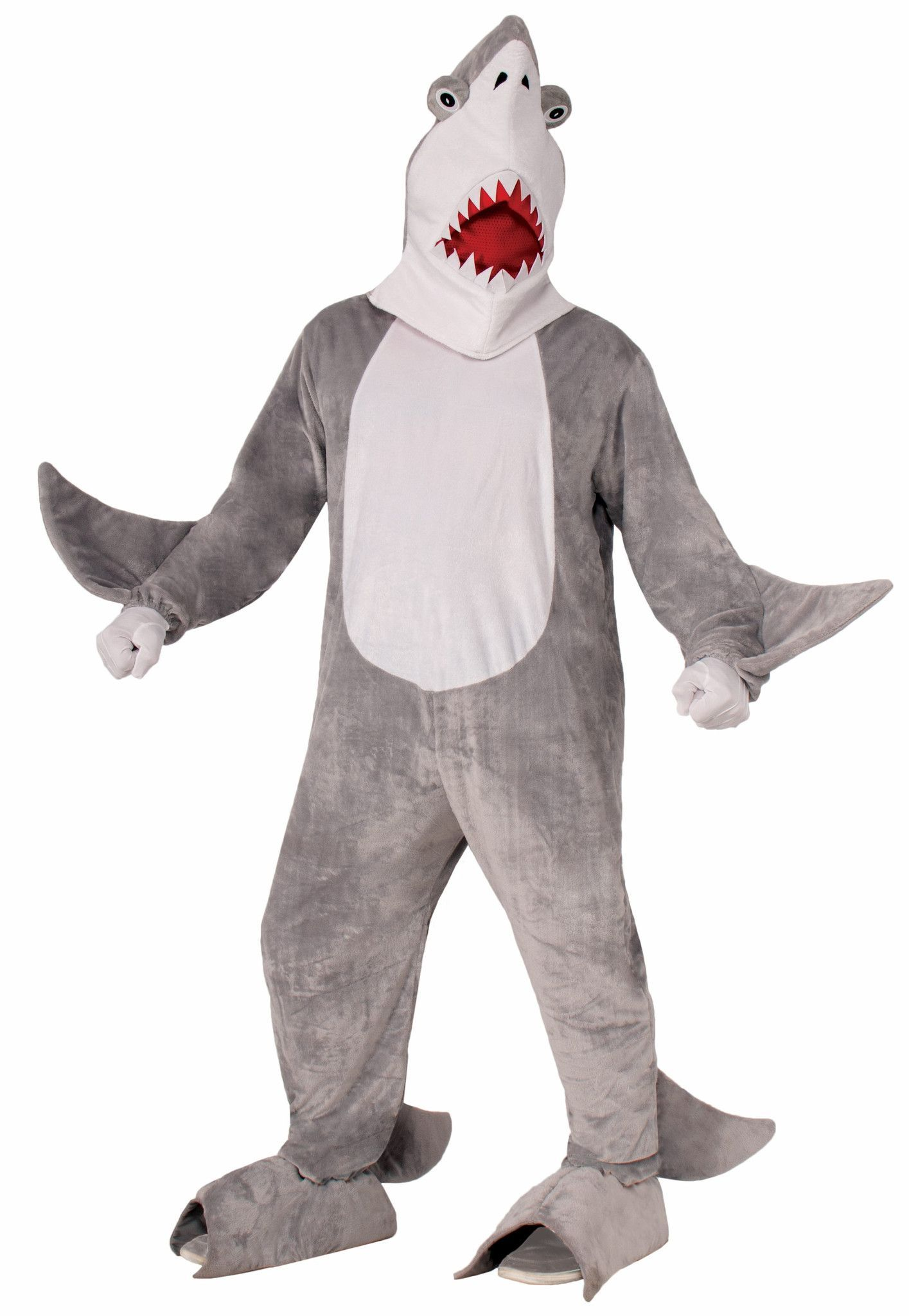 Plush Chomper the Shark Adult Costume One Size Fits Most  sc 1 st  Pinterest & Plush Chomper the Shark Adult Costume One Size Fits Most | Shark and ...