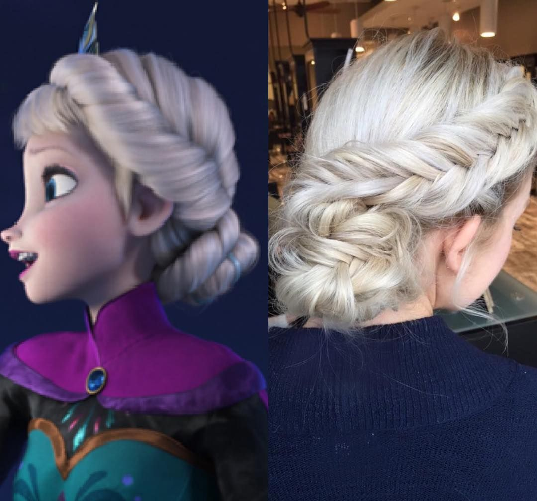 """Frozen hair inspo❤️ Would you try this?? By @shelbyandersonbeauty"""