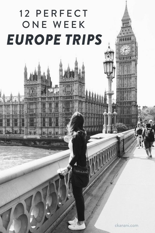 Are you planning a trip to Europe? Here are 12 amazing one week Europe itineraries. See the best of Europe, including London, Paris, Venice, Positano (Amalfi Coast) and more!