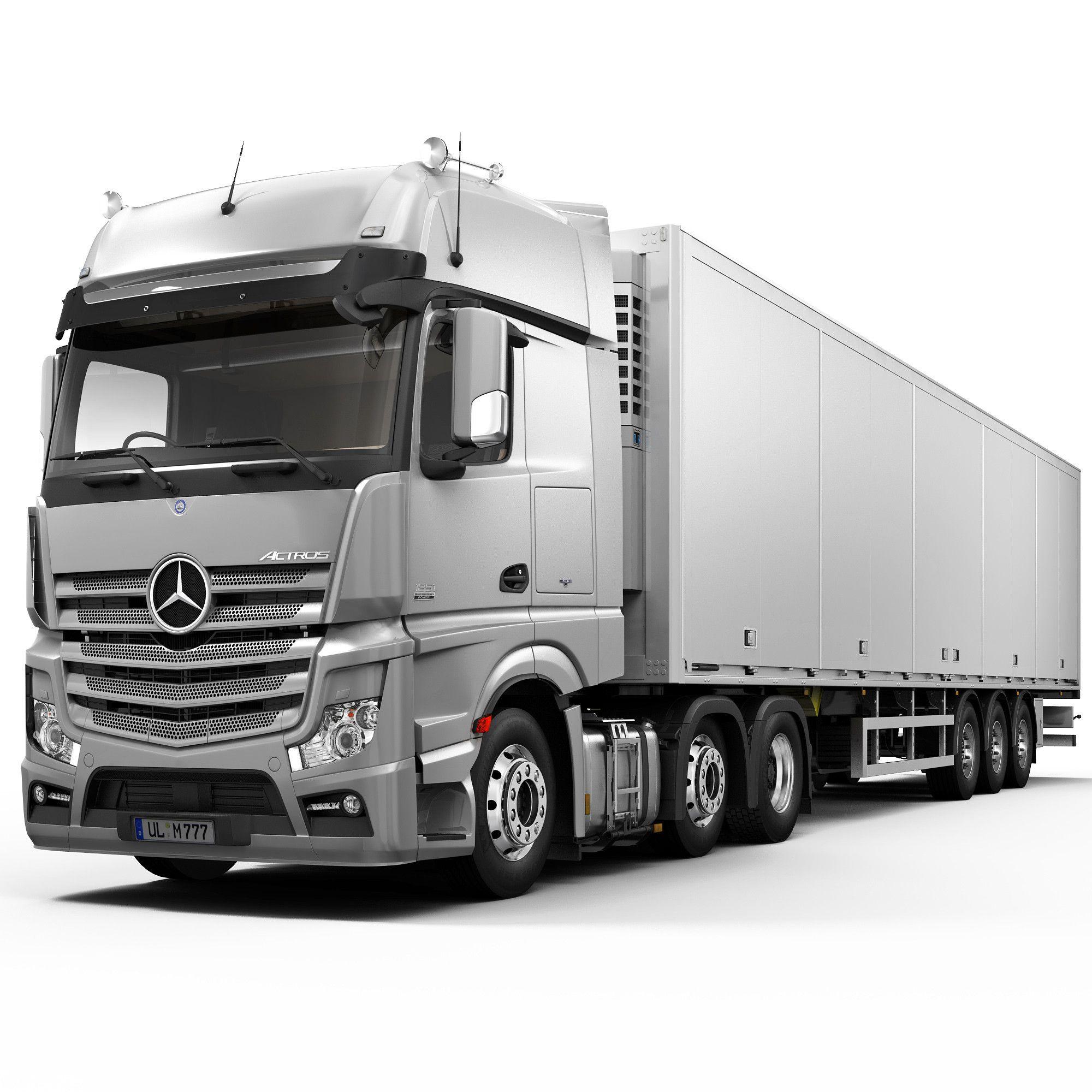 Mercedes Truck, Semi Trailer