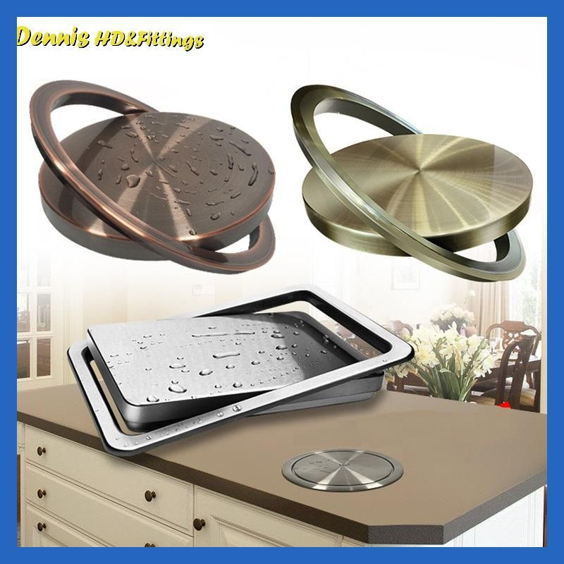 Stainless Steel Recessed Built In Flap Lid Cover For Trash Bin
