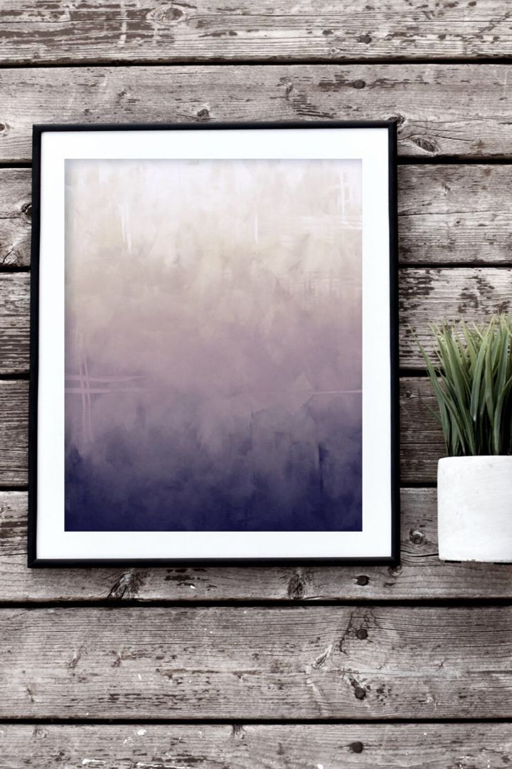 Dark purple abstract printable wall art purple home decor
