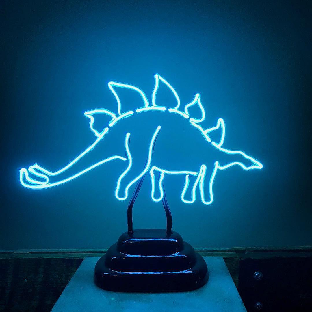 neon dinosaurs, too! argon creatures in Raleigh