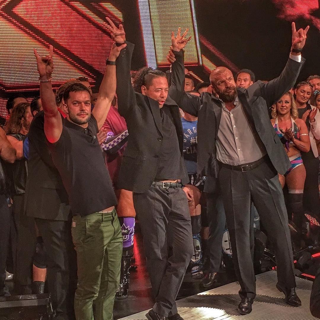 Triple H with Shinsuke Nakamura and Finn Balor
