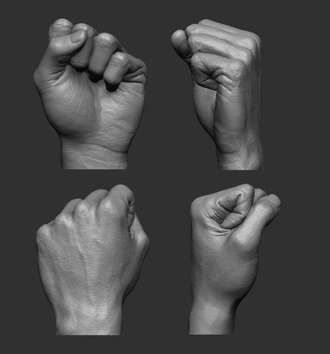Fist printable | 3D Print Model | Print models, Fist, Hand