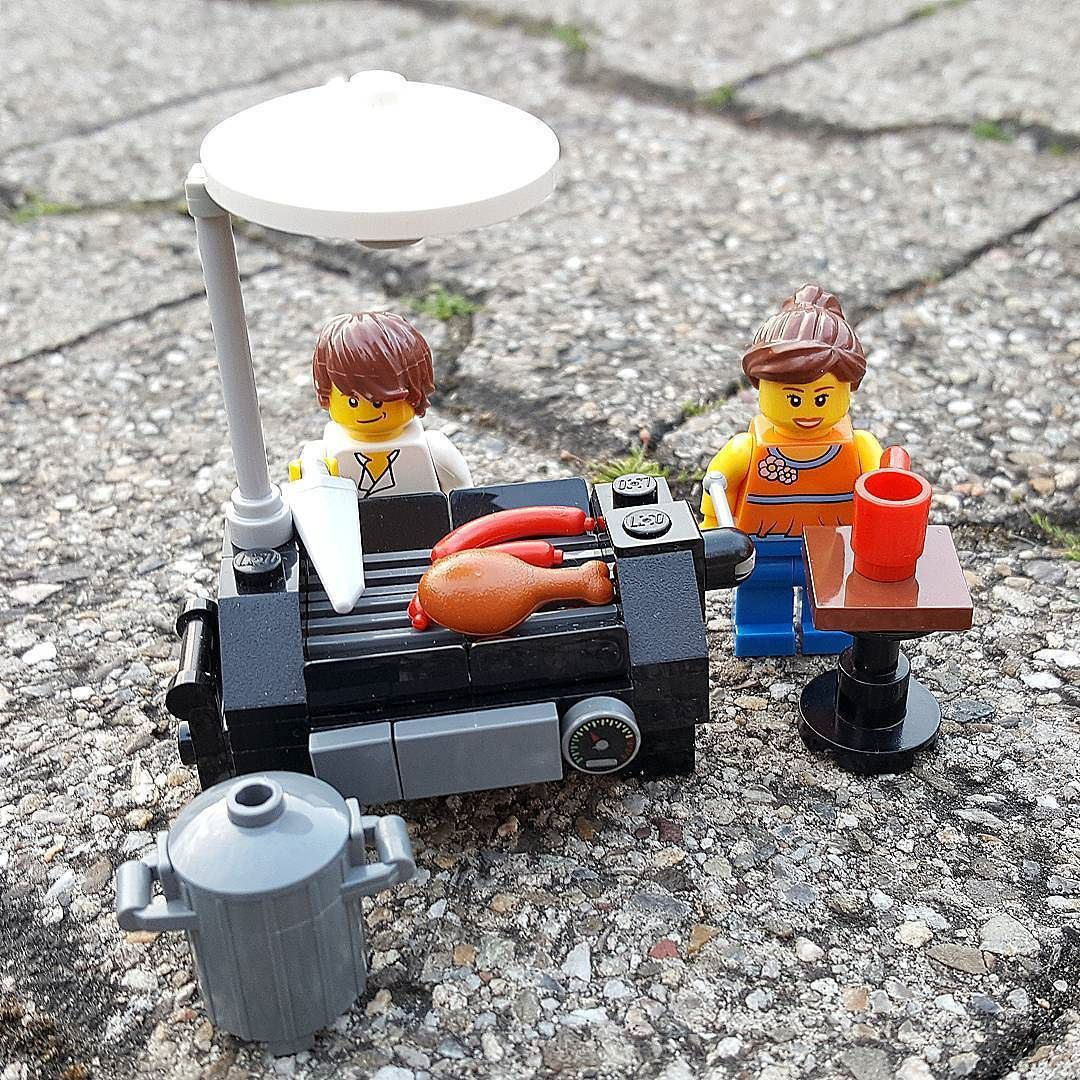 Again My Lego Bbq Set Built Without Instructions D I Hope You