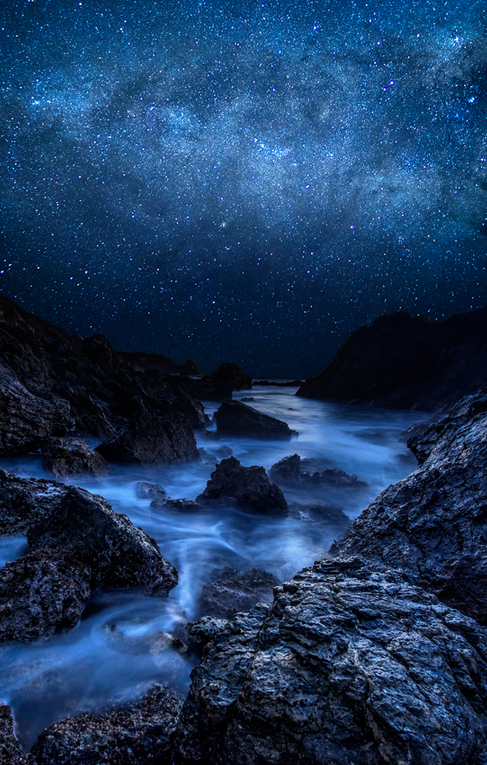 Cyan Starry Night Breathtaking Landscapes Photo Night Photography Starry Night Wallpaper Night Photos