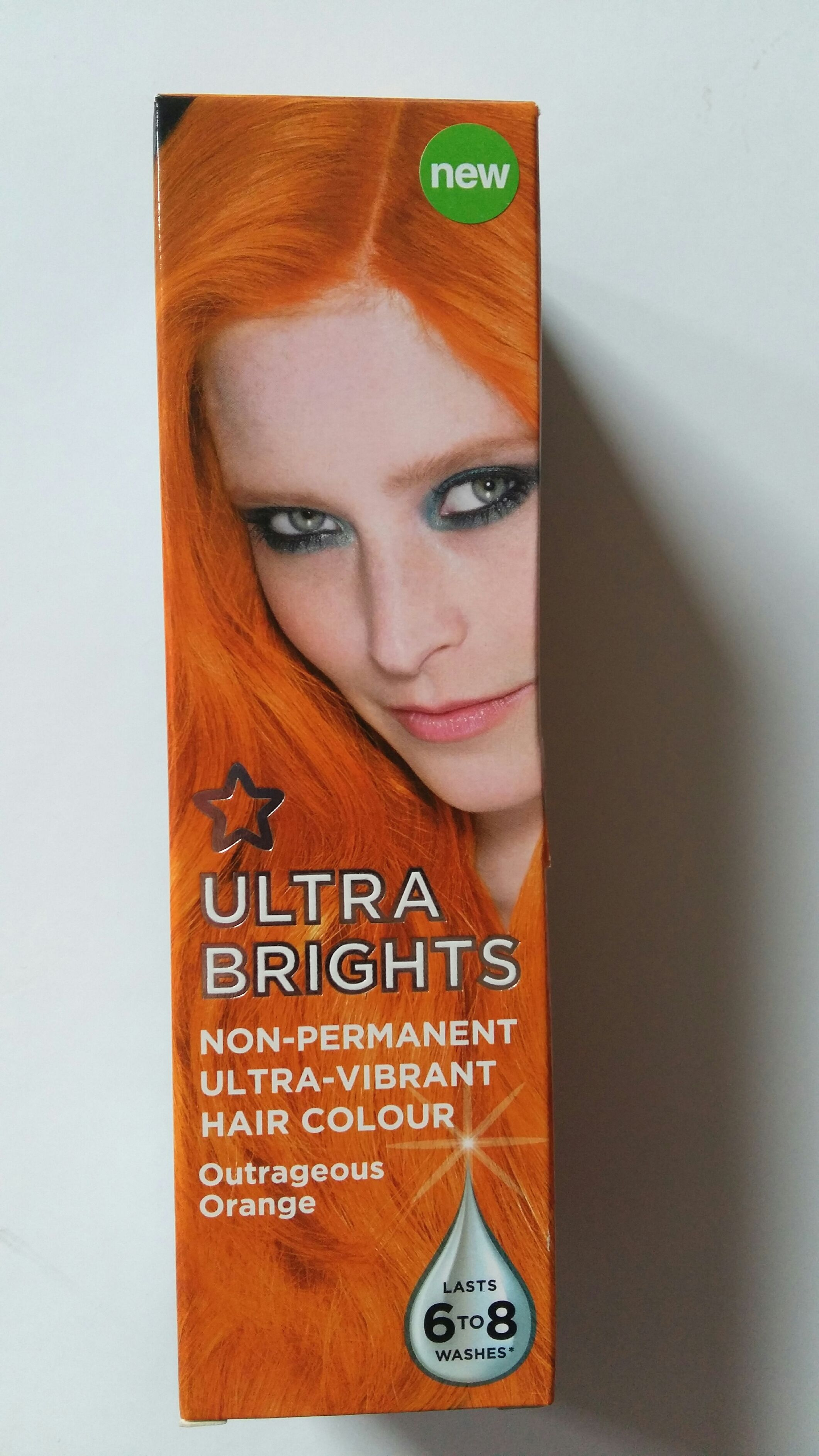 New Superdrug Vibrance Ultra Bright Outrageous Orange Hair Colour