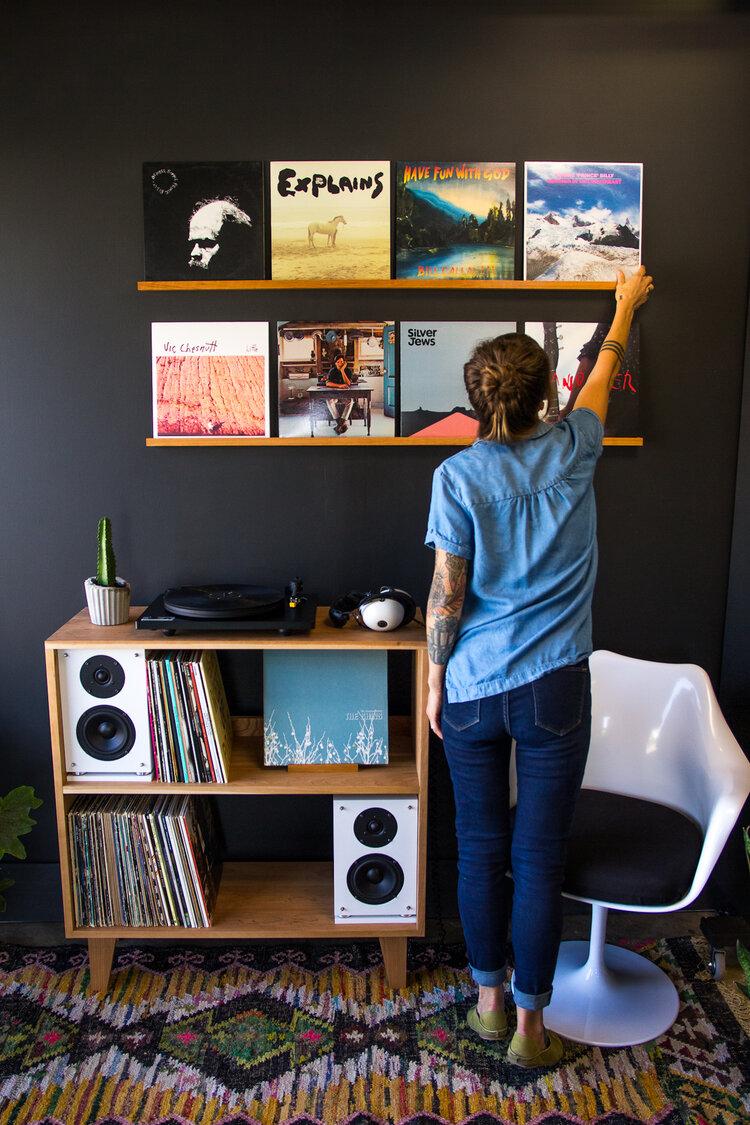 Quad Size Record Ledge Prathermade Com In 2020 Home Music Rooms Record Room Vinyl Room