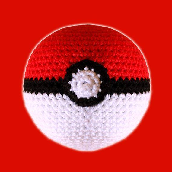 Poke Ball Pokemon Amigurumi Pattern Pdf Nerd Toy Pokeball Geek