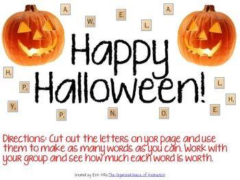 Happy Halloween-Making Words Activity PDF Printable ...