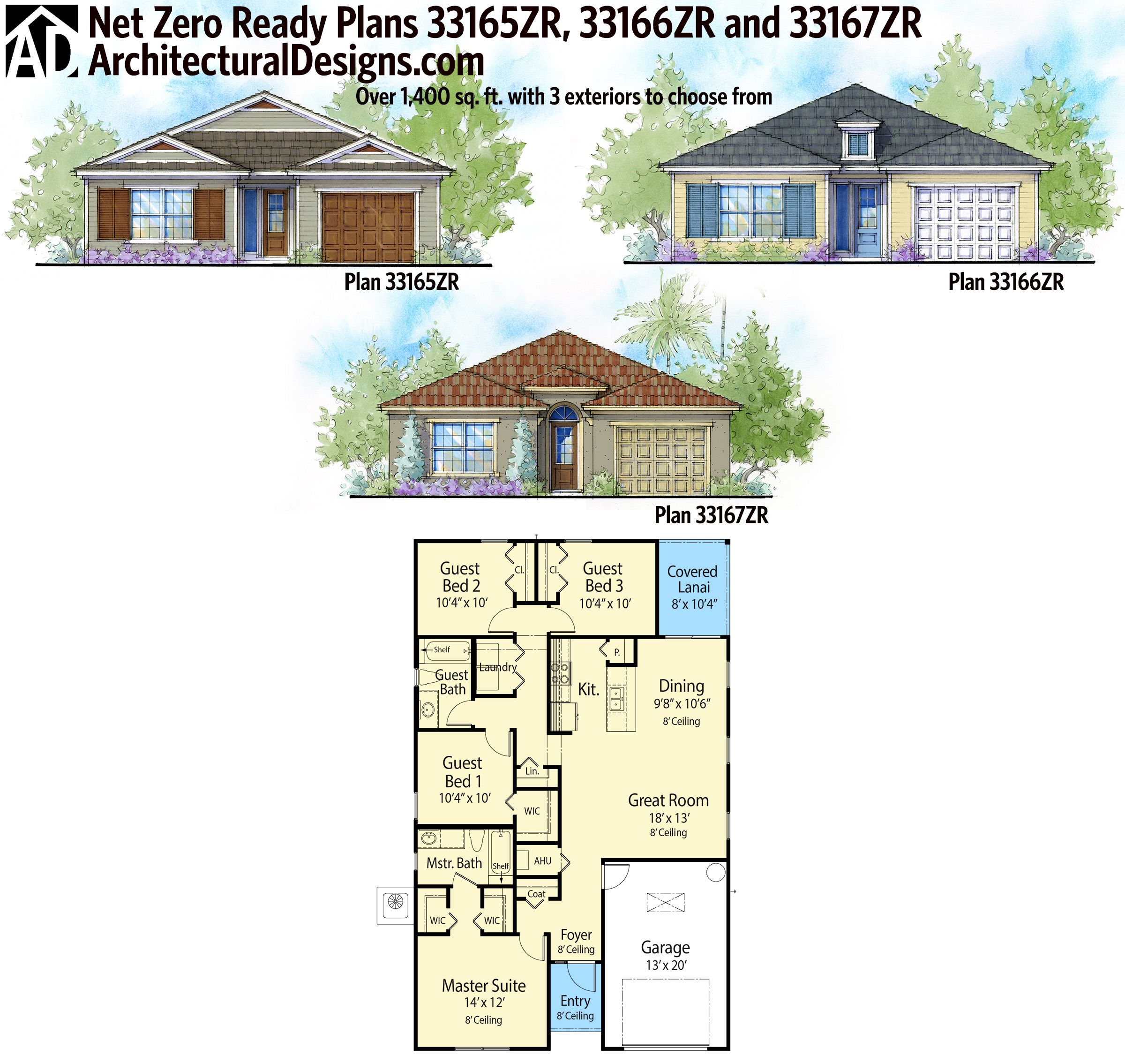 Plan 33165zr 4 bed compact net zero ready house plan for Ready house plans
