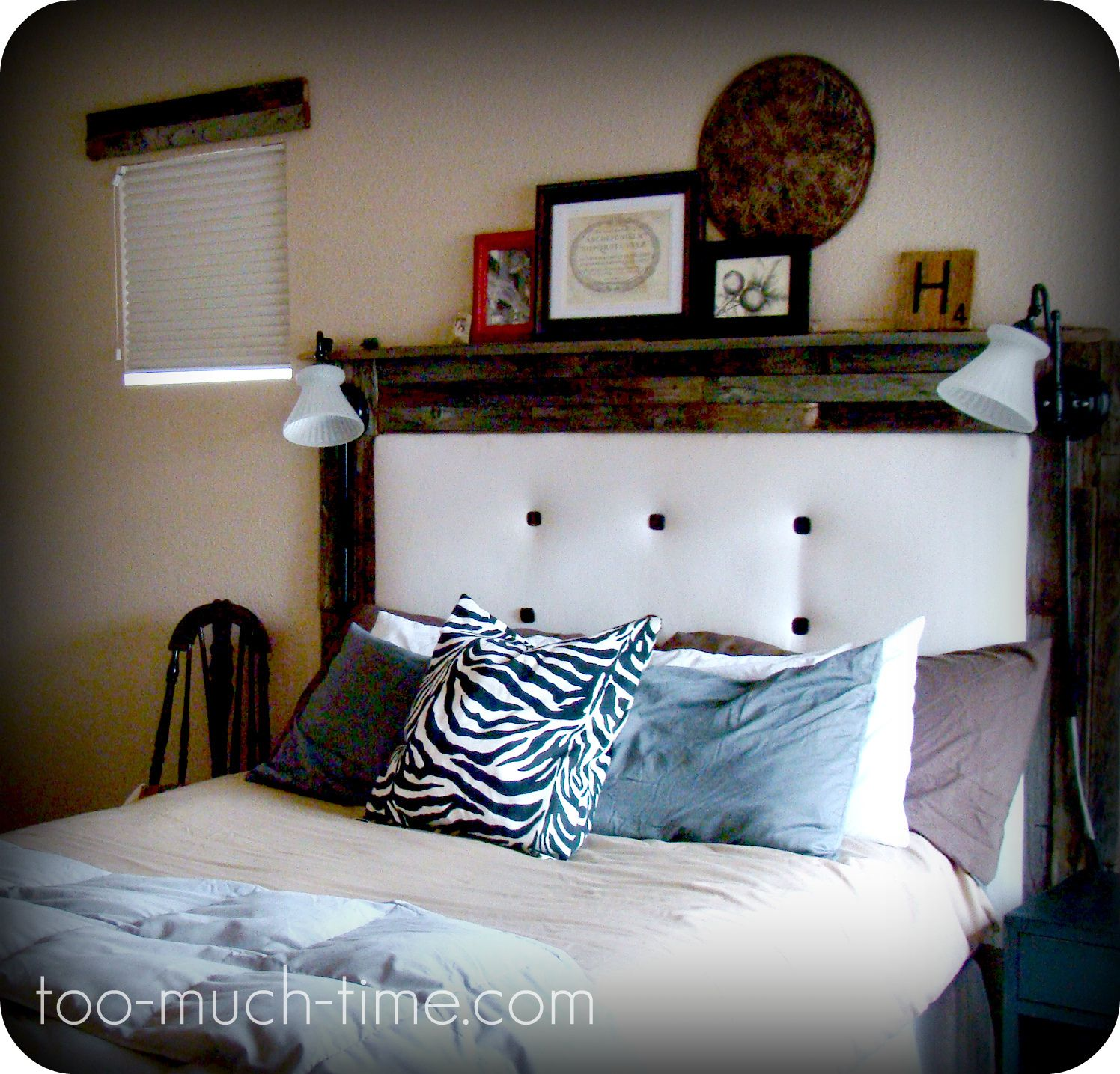 front view of headboard can t wait to create something like this