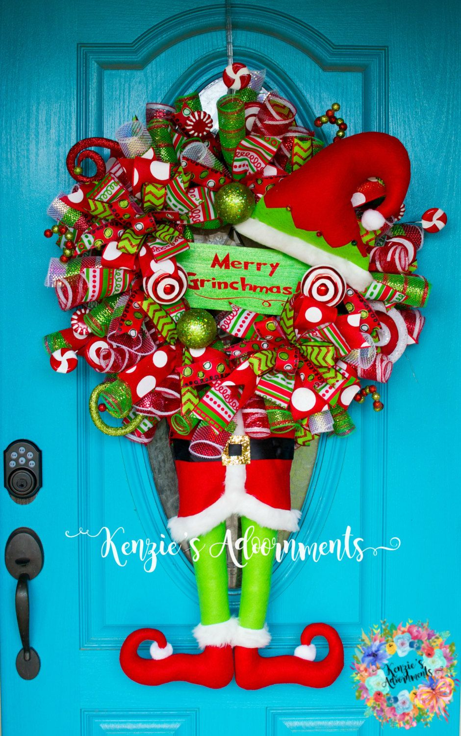 The Grinch Wreath Christmas Deco Mesh Decor Merry Grinchmas How Stole By Kenziesadoornments