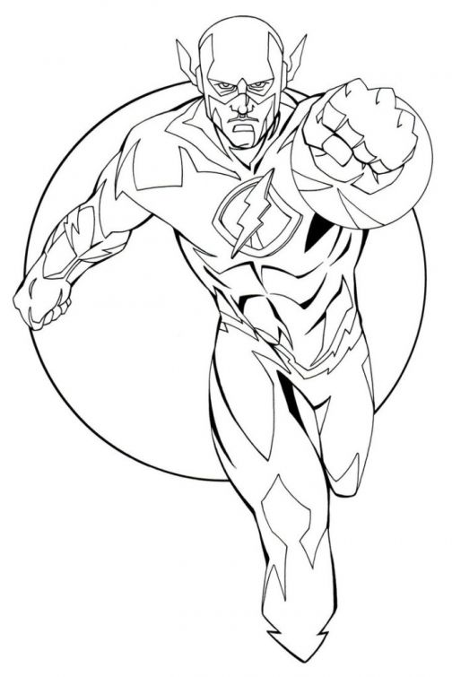 free the flash coloring pages