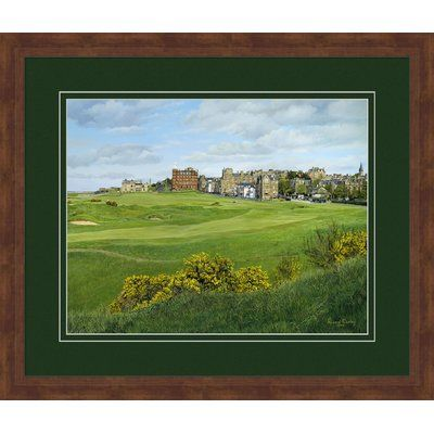Red Barrel Studio \'Framed St Andrews Golf Course\' Framed ...