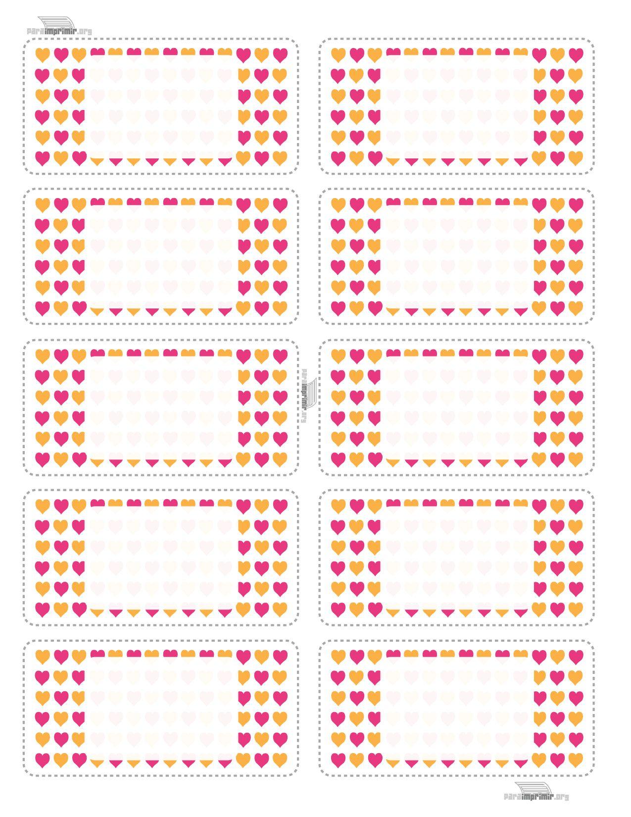 Etiquetas-escolares-de-corazon | Tags | Pinterest | Escolares ...