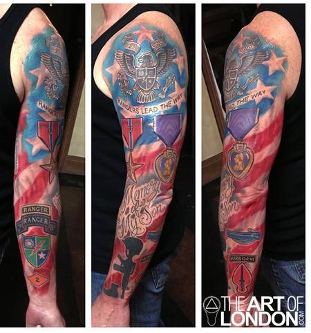 full sleeve army ranger memorial tattoo design tatted life pinterest memorial tattoos. Black Bedroom Furniture Sets. Home Design Ideas