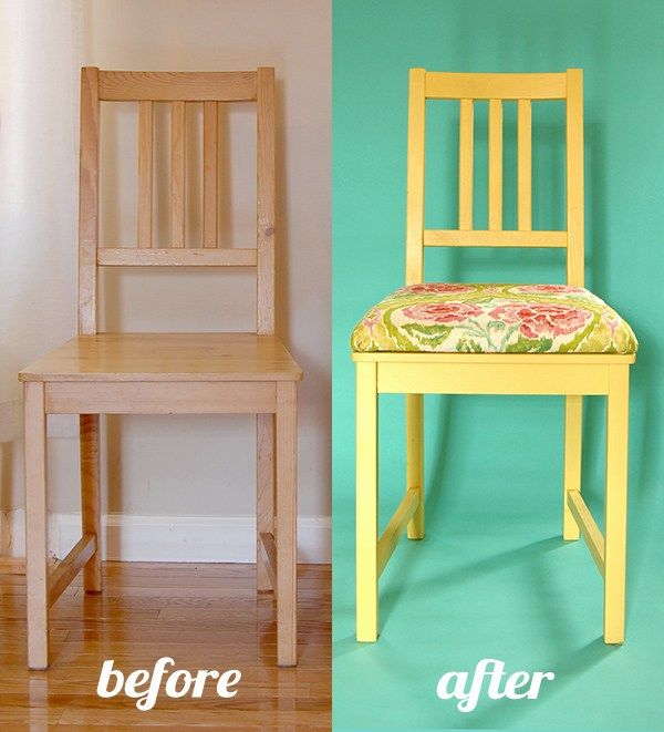 add padded seat to dining chairs without removable seat by adding an mdf layer on top