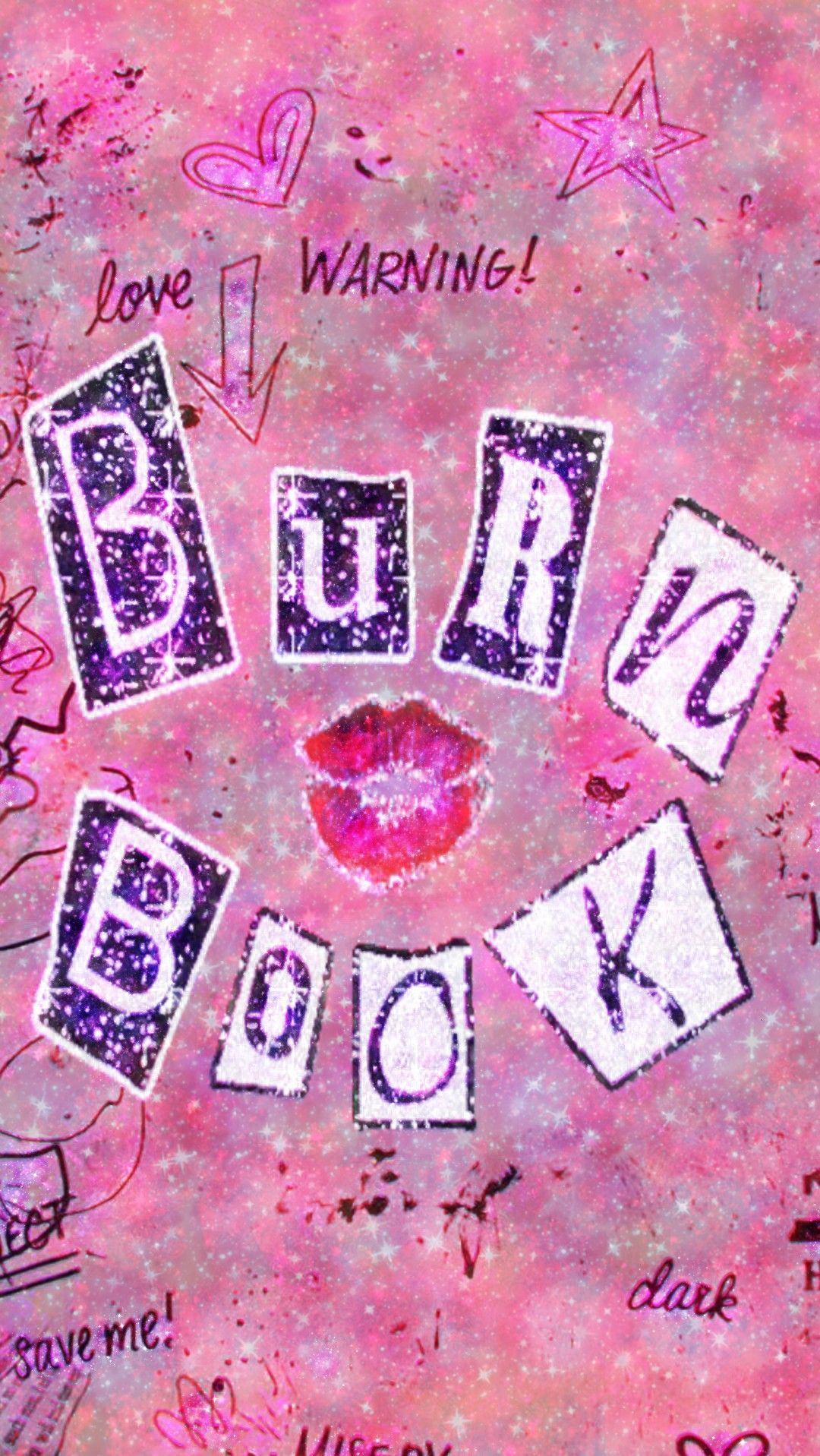Burn Book Galaxy Made By Me Pink Galaxy Wallpapers Backgrounds Glitter Sparkles Girl Iphone Wallpaper Girly Pastel Pink Aesthetic Pink Tumblr Aesthetic
