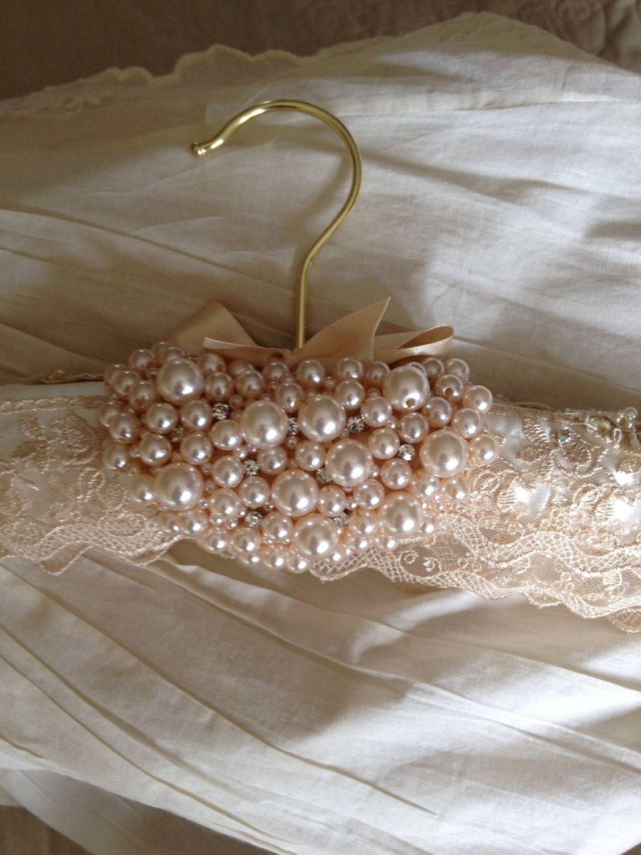 Wedding dress hanger by ChurchMouseWeddings on Etsy