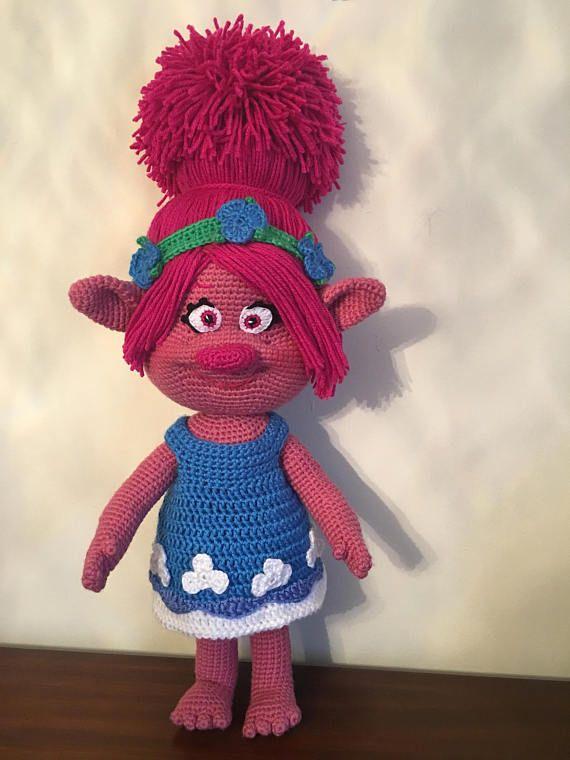 Troll Poppy, handmade doll (crochet) | Pinterest | Ganchillo ...